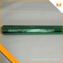 Green transparent color mylar plastic film